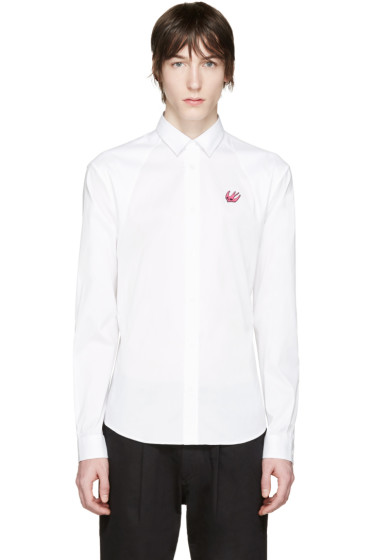 McQ Alexander Mcqueen - White Embroidered Harness Shirt