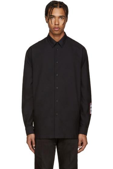 McQ Alexander Mcqueen - Black Logo Patch Shirt
