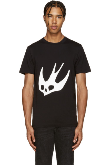 McQ Alexander Mcqueen - Black Swallow T-Shirt