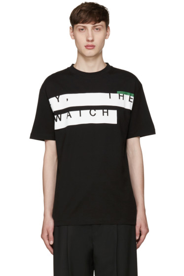 McQ Alexander Mcqueen - Black & White Text T-Shirt
