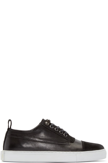 McQ Alexander Mcqueen - Black Leather Chris Sneakers