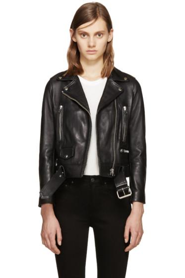 Acne Studios - Black Leather Mock Jacket