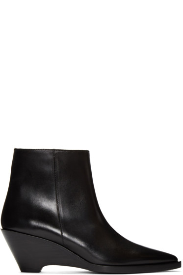 Acne Studios - Black Cony Ankle Boots
