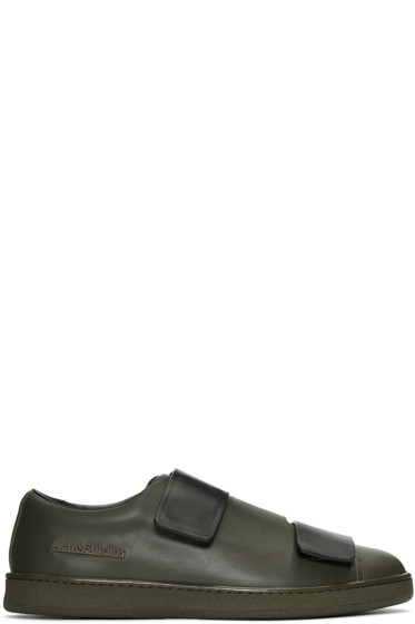 Acne Studios - Green Colorblocked Triple Lo Sneakers