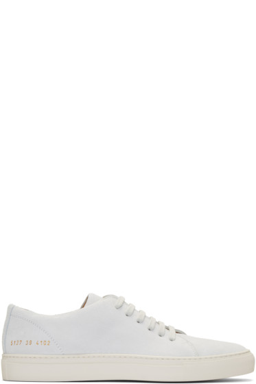 Common Projects - Off-White Suede New Court Low Sneakers