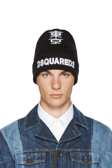 Dsquared2 - Black Logo Beanie