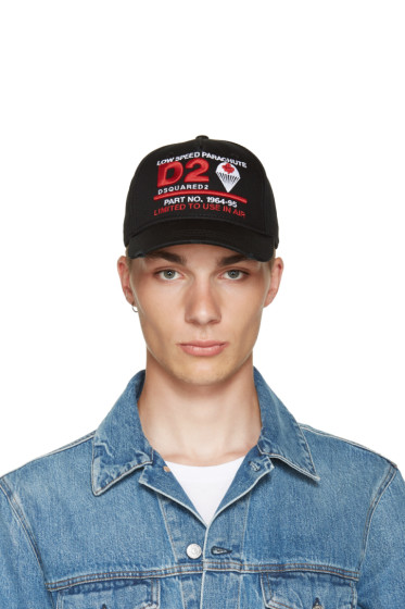 Dsquared2 - Black Parachute Cap