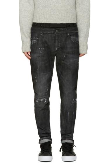 Dsquared2 - Black Uniform Mixed Jeans
