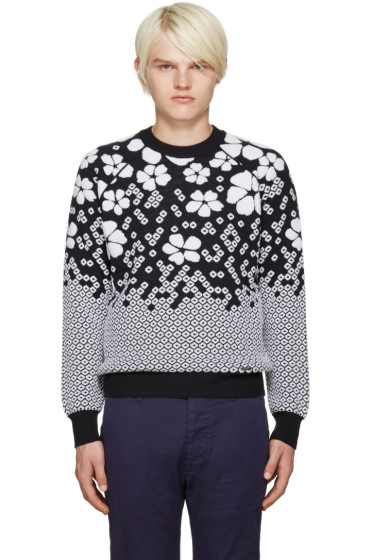 Dsquared2 - Navy Floral Jacquard Sweater