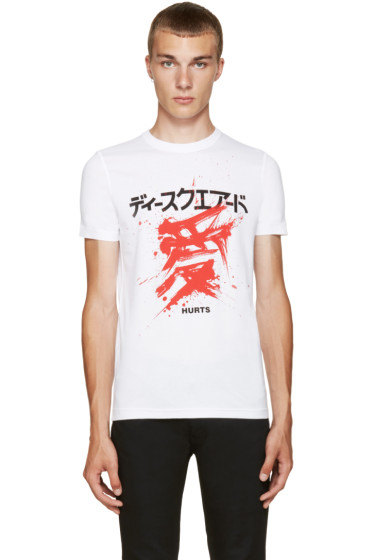 Dsquared2 - White Graphic T-Shirt