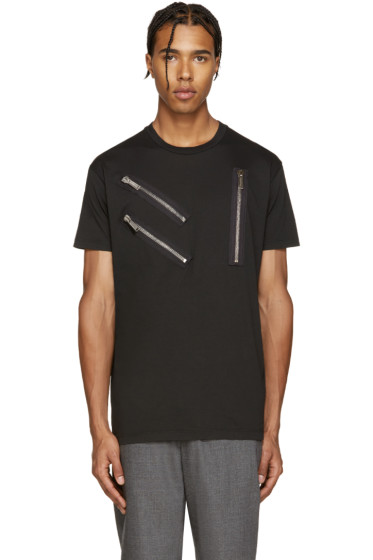 Dsquared2 - Black Zips Cool-Fit T-Shirt