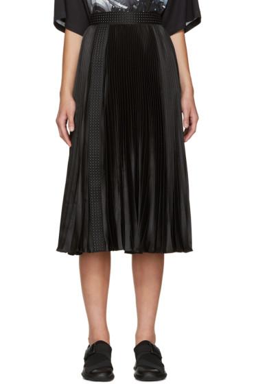 Christopher Kane - Black Satin Pleated Skirt