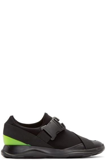 Christopher Kane - Black Neon Spoiler Sneakers