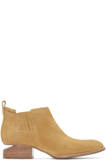 Alexander Wang - Tan Suede Kori Ankle Boots