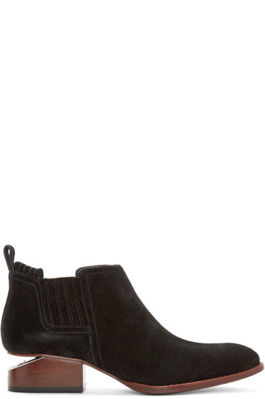 Alexander Wang - Black Suede Kori Ankle Boots