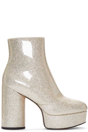 Marc Jacobs - Gold Glitter Amber Boots