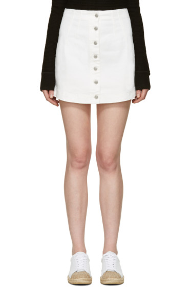 T by Alexander Wang - White Denim Miniskirt