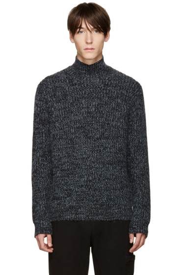 T by Alexander Wang - Blue Chunky Knit Sweater