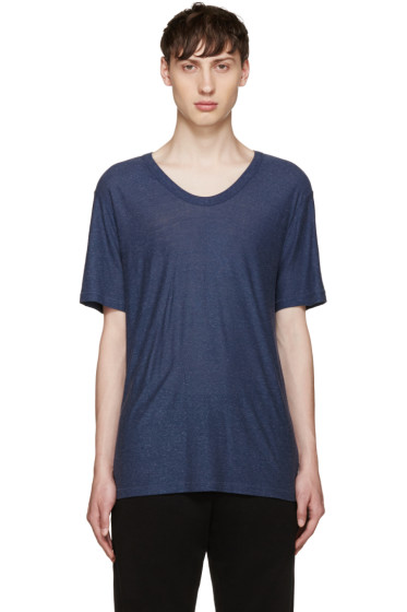 T by Alexander Wang - Blue Slub Jersey T-Shirt
