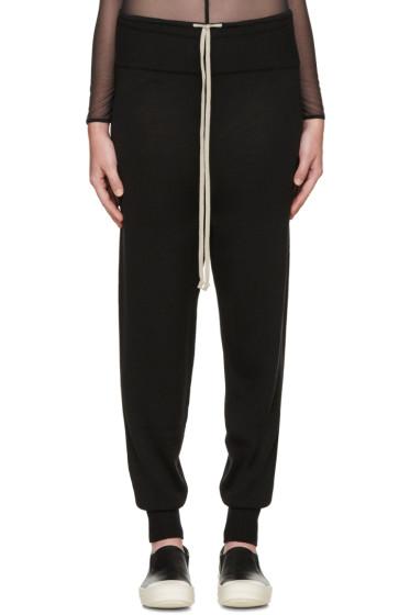 Rick Owens - Black Merino Wool Lounge Pants