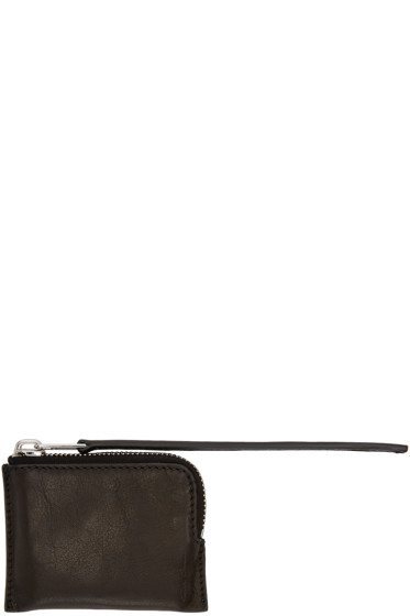 Rick Owens - Black Small Zippered Pouch