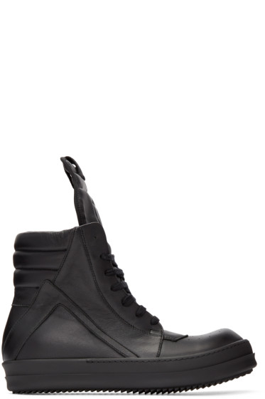 Rick Owens - Black Geobasket High-Top Sneakers