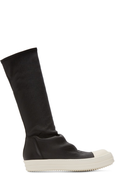 Rick Owens - Black Sock High-Top Sneakers