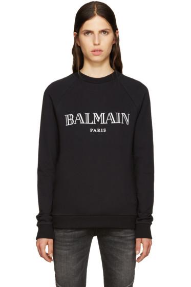 Balmain - Black Logo Pullover