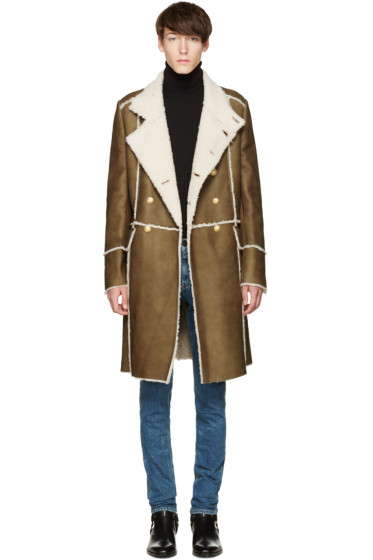Balmain - Brown Shearling Coat