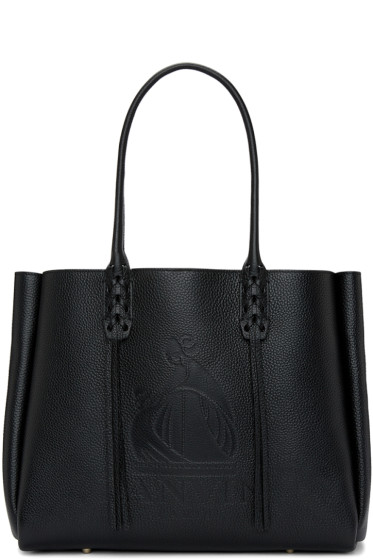 Lanvin - Black Small Logo Shopper Tote