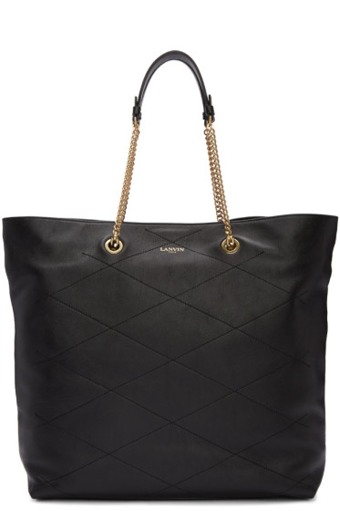 Lanvin - Black Leather Sugar Tote