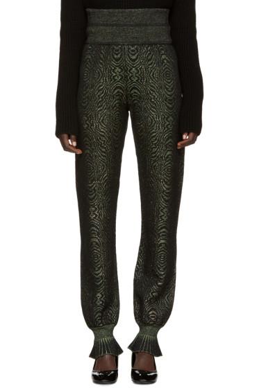 Lanvin - Green Metallic Lounge Pants