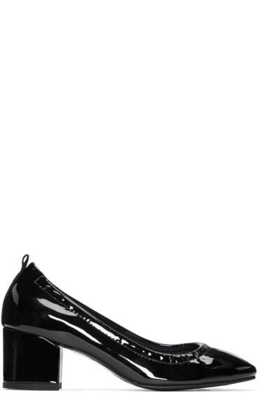 Lanvin - Black Patent Leather Ballerina Heels