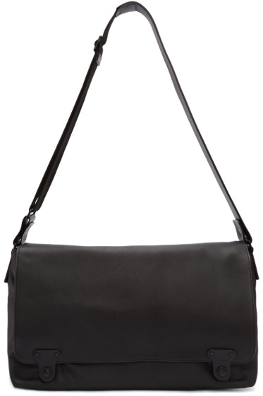 Lanvin - Black Leather Messenger Bag