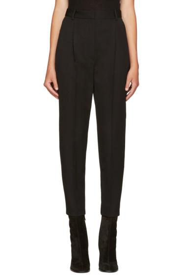 Alexander McQueen - Black Grain De Poudre Trousers