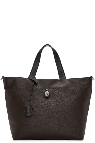 Alexander McQueen - Brown Hold-All Tote