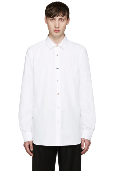 Paul Smith - White Variety Buttons Shirt