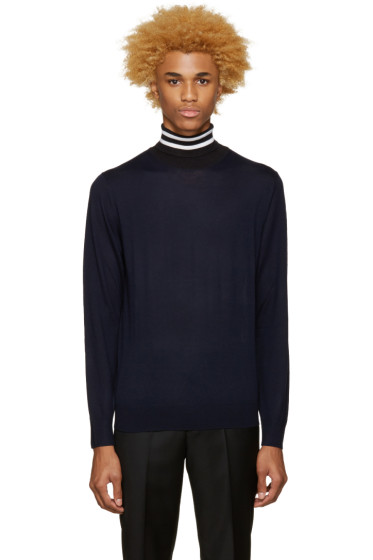 Paul Smith - Navy Contrast Turtleneck