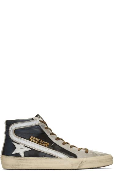 Golden Goose - Black Slide High-Top Sneakers