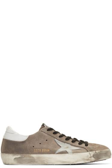 Golden Goose - Grey Suede Superstar Sneakers
