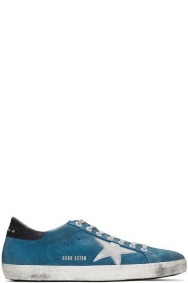 Golden Goose - Blue Suede Superstar Sneakers