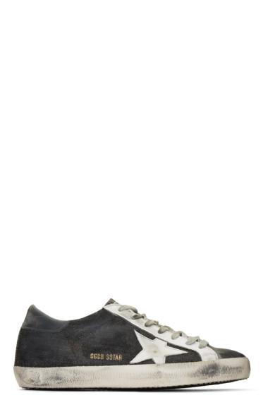 Golden Goose - Black Denim Superstars Sneakers