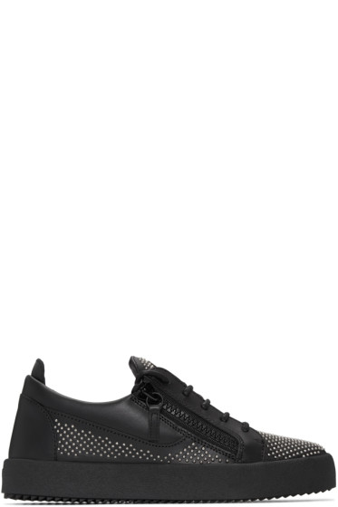 Giuseppe Zanotti - Black Studded London Sneakers