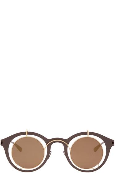 Damir Doma - Brown Mykita Edition Bradfield Sunglasses