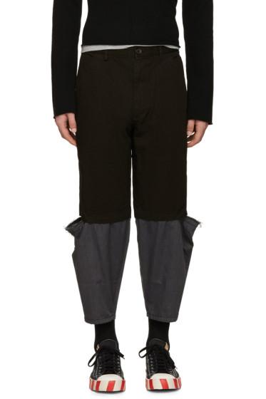 Comme des Garçons Shirt - Black Cut-Out Trousers