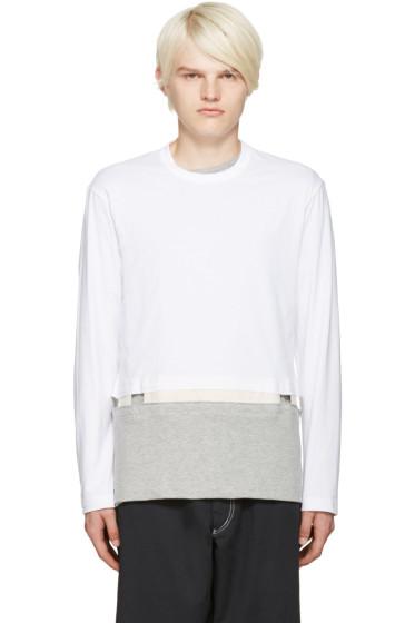 Comme des Garçons Shirt - White Cut-Out T-Shirt
