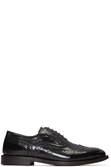 H by Hudson - Black Heyford Brogues