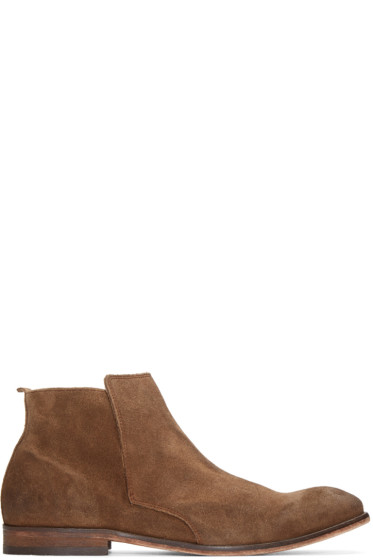 H by Hudson - Brown Suede Lennox Boots