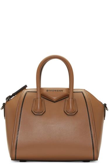Givenchy - Tan Mini Antigona Bag