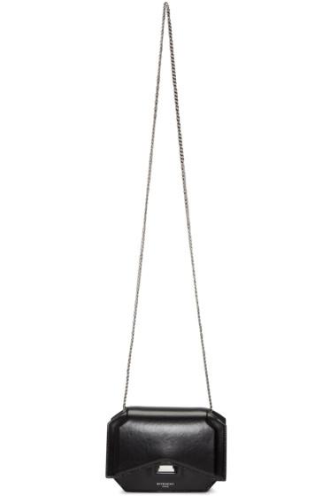 Givenchy - Black Bow-Cut Chain Wallet Bag